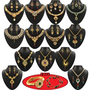 sc 1 st  Quick Shope & Utsav 1 Gram Gold Plated 13 Jewellery Set